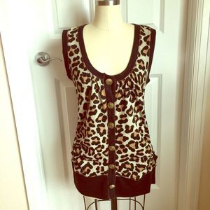 Forever 21  Leopard Cardigan Size M